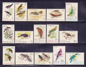 Norfolk Is 126-140 VF-MNH set nice colors scv $ 34 ! see pic !