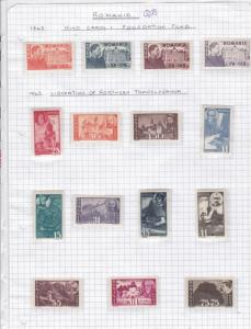 Romania 1945 mounted mint stamps Ref 9676