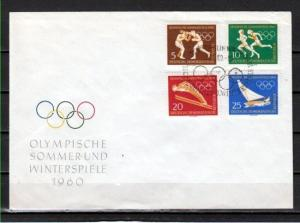 German Dem. Rep. Scott cat. 488-491. Olympics issue. First day cover.