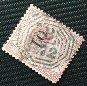 MALAYA Straits Settlements 1880 QV 10c opt 30c Used CDS B-172 SG#33 M2926