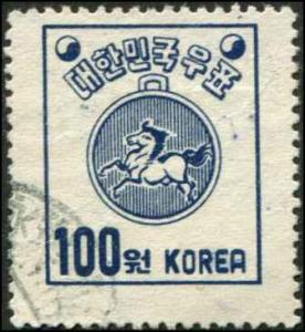 Korea SC# 125 Postal Medal 100wn Used