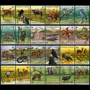 BURUNDI 1977 - Scott# 517-22 Wildlife Set of 24 NH