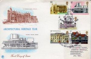 Great Britain 1975  FDC, Illust Architecture Heritage Cancel WINDSOR