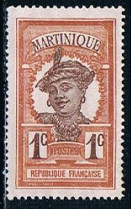Martinique 62, 1c Martinique Woman, unused, NG, VF