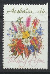 SG 1230  SC# 1164a right margin imperf  Used  Wildflowers perf 14
