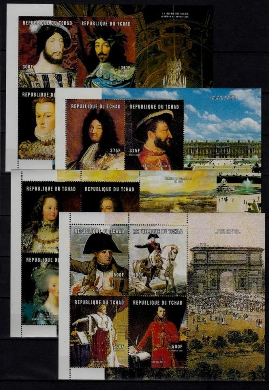 Chad 911-14 MNH French rulers/Napoleon SCV30
