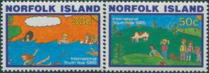 Norfolk Island 1985 SG369-370 Youth Year set MNH