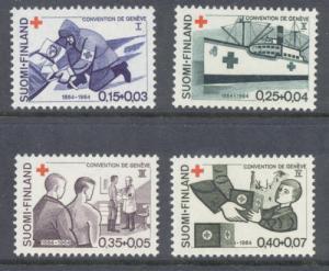 Finland Sc B169-72 1964 Red cross stamp set mint NH
