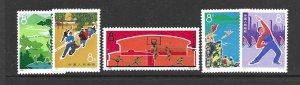 PRC 1090-94 1972 set 5 gymnastics