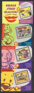 USPS Packet of Comic Strip Classics Stampers Savers Cards for Scott 3000 a-t