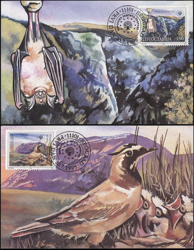 Yugoslavia. 1995. Nature protection n Europe (Maximum Card, M)