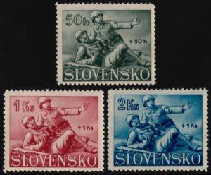 ✔️ SLOVAKIA 1941 - WWII RED CROSS - SC. B2/B4 MNH OG [SK088]