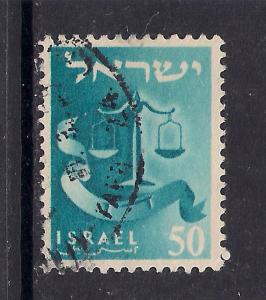 Israel 1956 50 Twelve Tribes used stamp ( L402 )