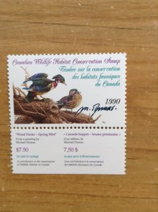 Canada ( Federal Wildlife)  FWH 6 Artist signed ( single stamp)