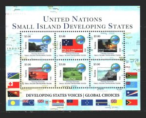 Samoa. 2014. bl91. Oceania Small Countries Union, landscapes. MNH.