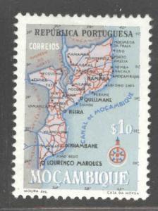 Mozambique Scott 387 MH* map stamp