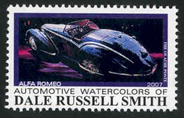 Automotive Art: Alfa Romeo ~ Artistamp - Cinderella - MNH