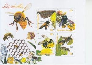 2019 Gabon Bees MS4  (Scott NA) MNH