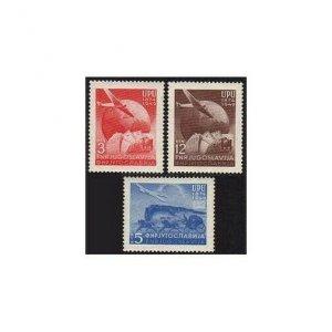 Yugoslavia 265-267,hinged.Mi 578-579. UPU-75,1969.Postal Communication.Plane,
