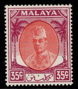 MALAYSIA - Kelantan GVI SG76, 35c scarlet & purple, M MINT.