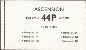 Ascension - 1971 Decimal Currency - Complete Booklet of 4 Each - Scott #138-43