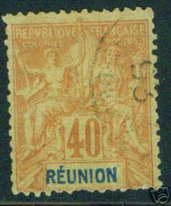 REUNION Scott 47 used stamp CV $16.00