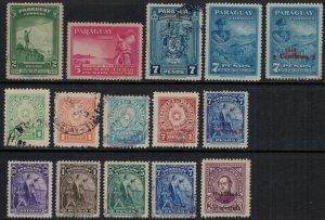 Paraguay #391-405*/u  CV $3.90