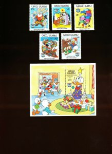 CAICOS ISLANDS -  VFMNH - DISNEY, Donald Duck Christmas -1984