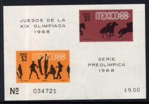 Mexico C338a Summer Olympics Souvenir Sheet MNH VF
