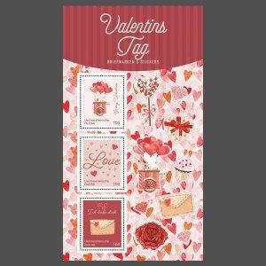 Liechtenstein stamps 2021-Valentine's Day