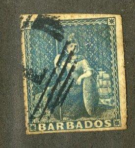 BARBADOS 11 USED PIN PERF SCV $175.00 BIN $75.00 ROYALTY