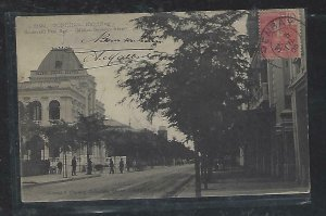 FRENCH INDOCHINA  (PP3008B)  1905   PPC FROM  JENBAY   TO FRANCE
