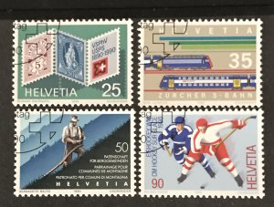 Switzerland 1990 #856-59, Used, CV $1.95