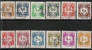 Stamp Germany Bohemia Czechoslovakia Official Dienst Mi 01-12 1940 WWII Used
