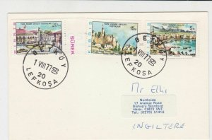 North Cyprus Turkish Beykoy Cancel 1977 Stamps Card ref R 16870