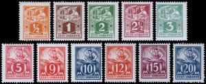 Estonia Scott 65-75 (1922-25) Mint H/LH VF, Complete Set, CV $60.30