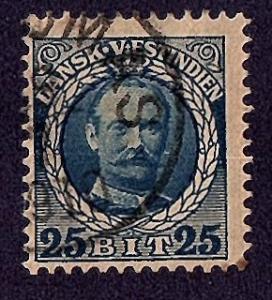 Danish West Indies 1908 Scott 47 used scv $2.50 less 40%=$1.50