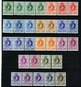 SWAZILAND King George VI 1938-54 The Full Set + Varieties SG 28 to SG 38 MINT