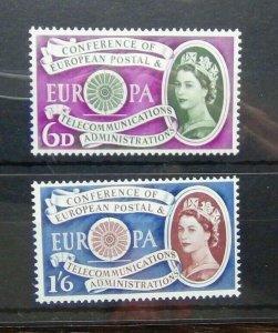 Great Britain 1960 Europa set MNH