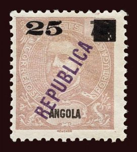 ANGOLA Scott #117 1912 King Carlos 1903 stamp overprinted, surcharged unused NG