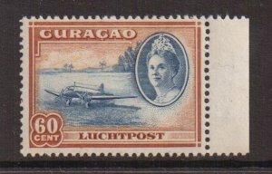 Netherlands Antilles  Curacao  #C27  MH  1942   AIR  Wilhelmina   60c