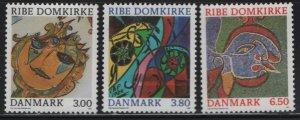 DENMARK, 834-836, (3)SET, MNH, 1987, RELIGIOUS ART