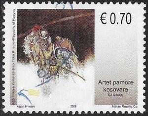 U.N. Kosovo 134 Used - Art - Gjokaj