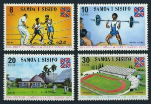 Samoa 395-398,MNH.Michel 293-296. Games,1974.Boxing,Weight lifting,Lawn bowling.