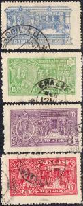 India - Travancore #32-35 Used