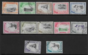 SWAZILAND SG78/89 1961 DEFINITIVE SET USED