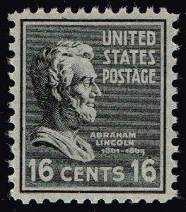 US STAMP #821 – 1938 6c Lincoln, black MNH SUPERB