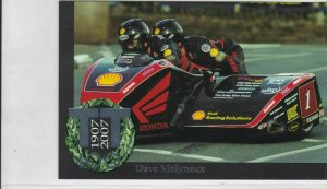 Isle of Man TT 100 Years Centenary Dave Molyneux Post Stamps Card ref R 16766