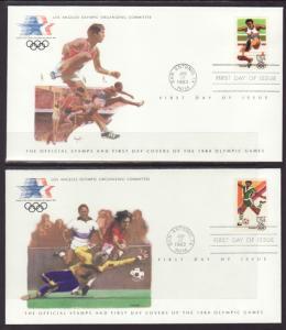 US C101-C104 Olympics S/4 Los Angeles U/A FDC