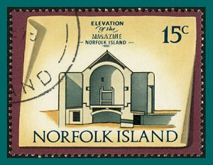 Norfolk Island 1975 Buildings IV, 15c used  #166,SG143